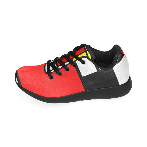 Mosaic DE STIJL Style black yellow red blue Women's Running Shoes (Model 020)