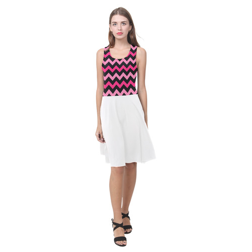 Black, Pink and white original vintage dress. NEW In our designers Shop. Atalanta Casual Sundress(Model D04)