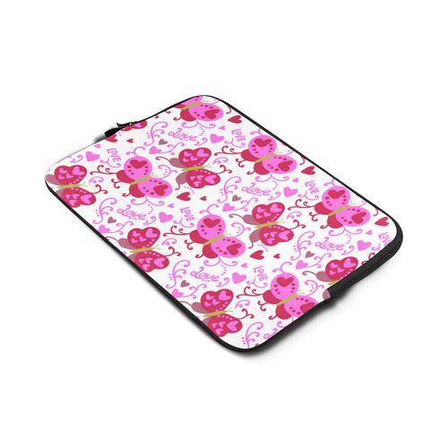 Cute Pink Hearts Butterfly Love Pattern Macbook Air 13""