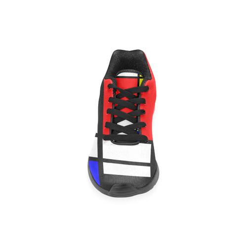 Mosaic DE STIJL Style black yellow red blue Men's Running Shoes (Model 020)