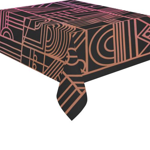 """Art Nouveau Rainbow Cotton Linen Tablecloth 52""""x 70"""""""