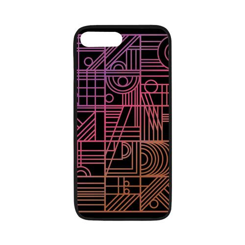 """Art Nouveau Rainbow Rubber Case for iPhone 7 plus (5.5"""")"""