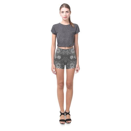 Snowflake Chalkboard Briseis Skinny Shorts (Model L04)