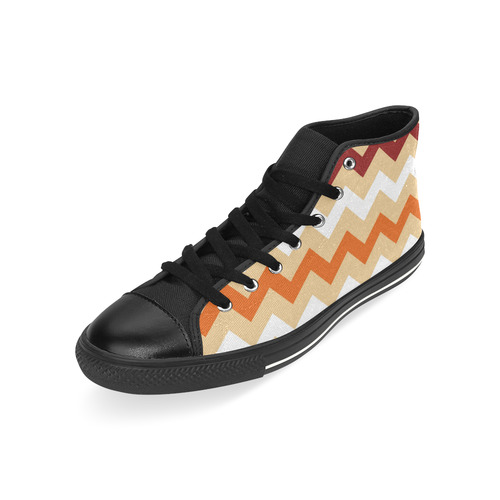 Zig - Zag : New designers edition 2016 for adventure girls High Top Canvas Women's Shoes/Large Size (Model 017)