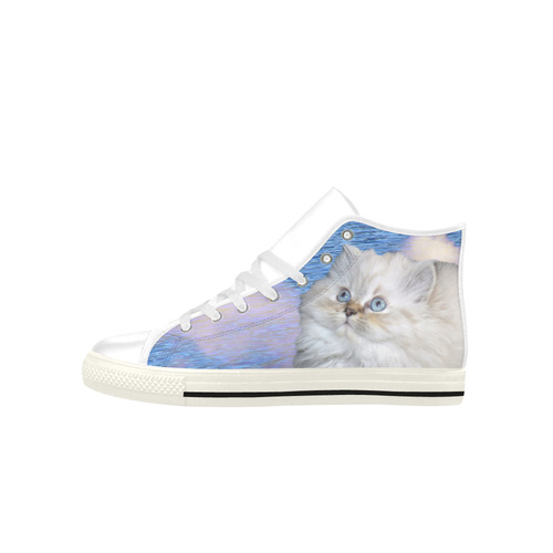 Cat and Water Aquila High Top Microfiber Leather Women's Shoes (Model 027)