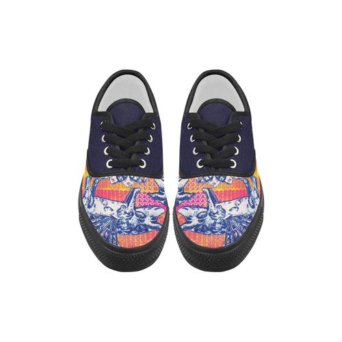 Little flying pigs Aries Men's Canvas Shoes (Model 029)