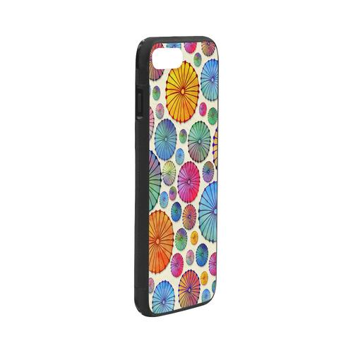"cocktail umbrellas-pillow Rubber Case for iPhone 7 plus (5.5"")"