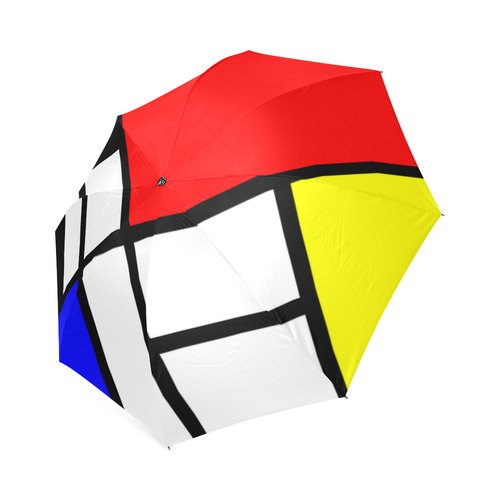 Mosaic DE STIJL Style black yellow red blue Foldable Umbrella