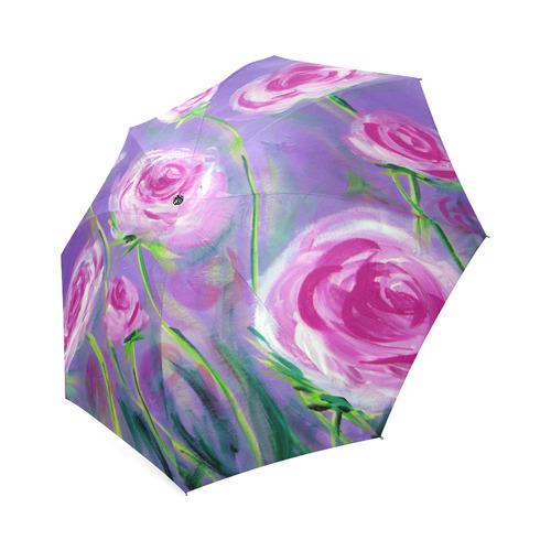 Peonies Umbrella Foldable Umbrella (Model U01)
