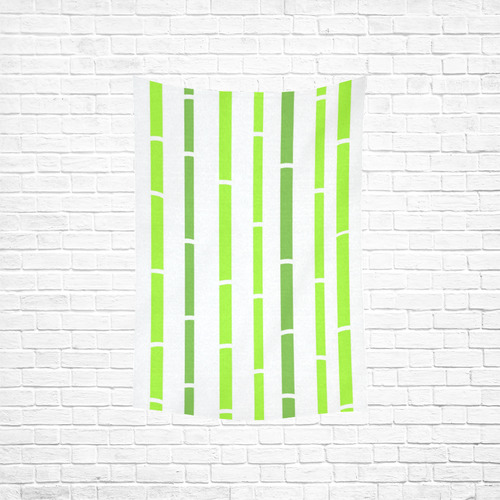 """Bamboo designers Towel : wild green and white / Designers quality elegant vintage TOWEL Cotton Linen Wall Tapestry 40""""x 60"""""""