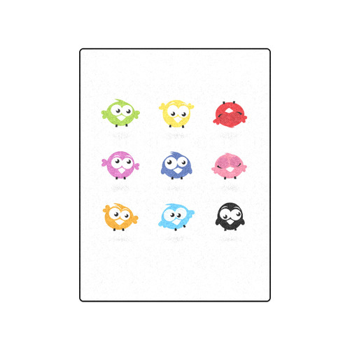 "Cute colorful Blanket with various BIRDs edition : we are original designers Shop Blanket 50""x60"""