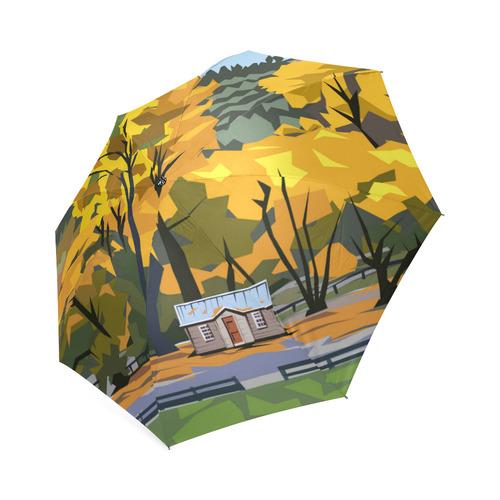 Arrowtown Gold Foldable Umbrella (Model U01)