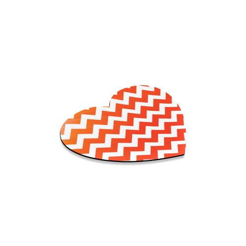 Wild orange 100 % Rubber coast heart-shaped Heart Coaster