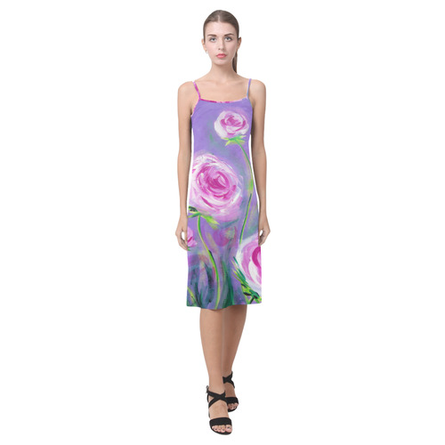 Peonies slip dress Alcestis Slip Dress (Model D05)