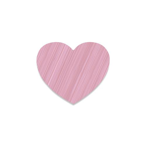 100 % Rubber coast heart-shaped pink wooden Design Heart Coaster