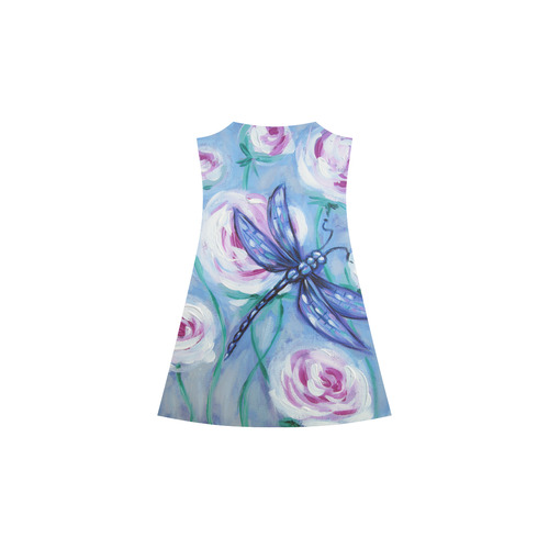 Dragonfly on roses Alcestis Slip Dress (Model D05)