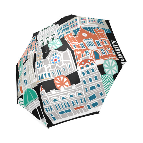 Christchurch buildings umbrella Foldable Umbrella (Model U01)