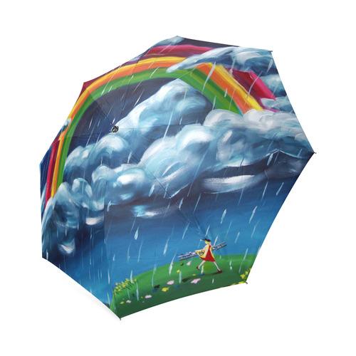 Rainbow umbrella Foldable Umbrella (Model U01)