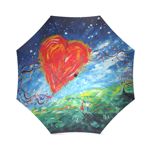 Hold on to Love Umbrella Foldable Umbrella (Model U01)