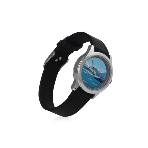 Lake Wakatipu Kid's Stainless Steel Leather Strap Watch(Model 208)