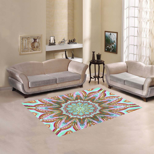 mandala beach 8 Area Rug 5'3''x4'