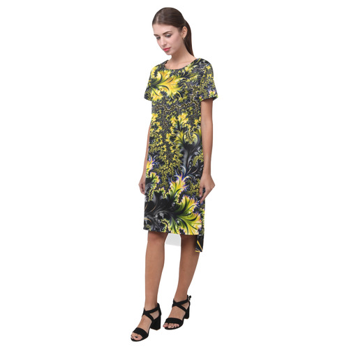 amazing fractal 31 F Short Sleeves Casual Dress(Model D14)