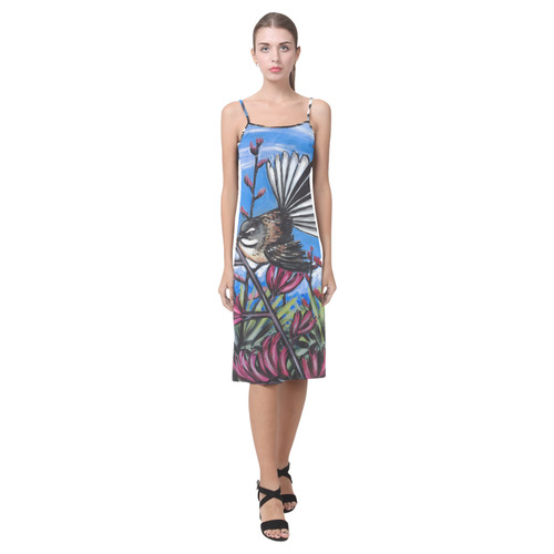 Fantail in Harakeke slip dress Alcestis Slip Dress (Model D05)