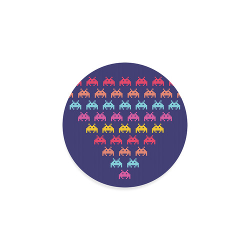 Little galaxy colorful Creatures : vintage Coaster Edition Round Coaster