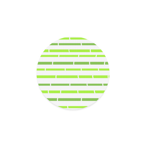 Bamboo designers Coaster : wild green with stripes Round Coaster