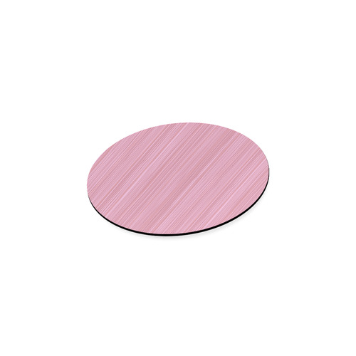 Vintage Coaster with pink stripes : Designers fashion edition for Modern Homes and Kitchens 60s insp Round Coaster
