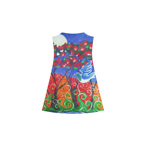 Kereru in pohutukawa  slip dress Alcestis Slip Dress (Model D05)