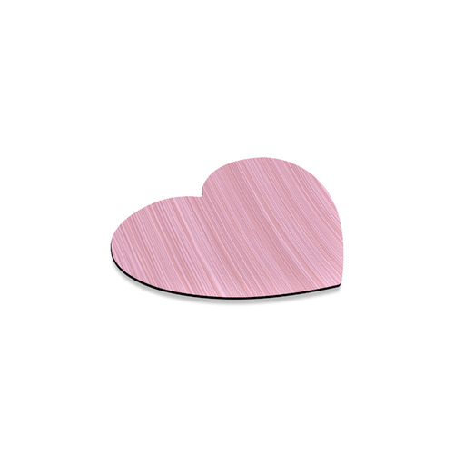 100 % Rubber coast heart-shaped pink wooden Design Heart Coaster