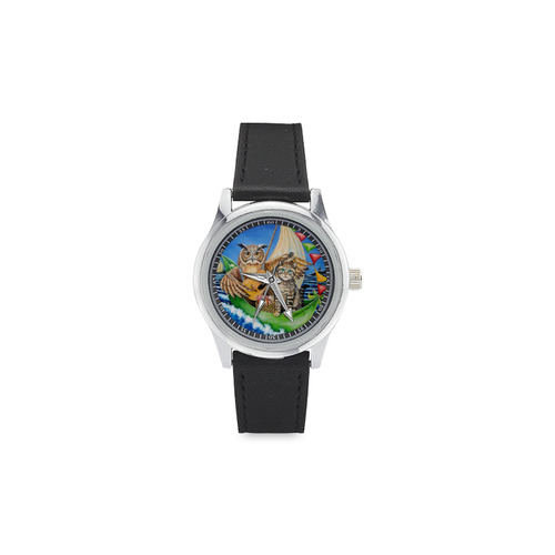Owl & Pussycat kids watch Kid's Stainless Steel Leather Strap Watch(Model 208)