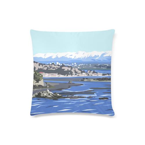 """Christchurch city Custom Zippered Pillow Case 16""""x16""""(Twin Sides)"""