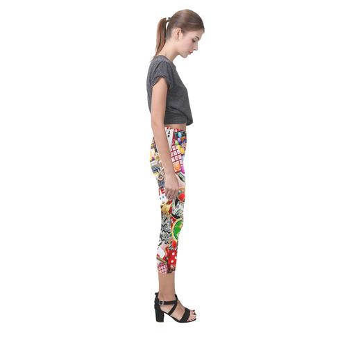 Las Vegas Icons - Gamblers Delight Capri Legging (Model L02)