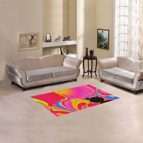 "colorful fractal art Area Rug 2'7""x 1'8''"