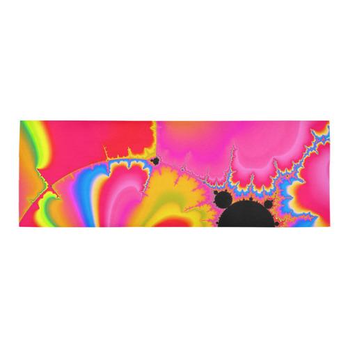 colorful fractal art Area Rug 10'x3'3''