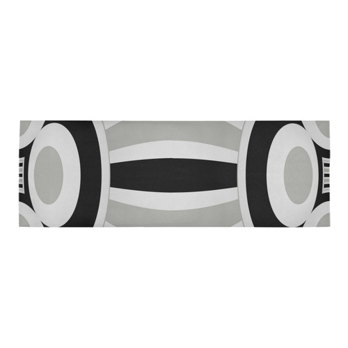Contrast Abstract Area Rug 10'x3'3''