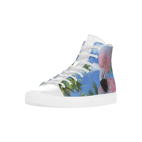 Flamingo and Beach Andromeda High Top Action Leather Women's Shoes (Model 305)