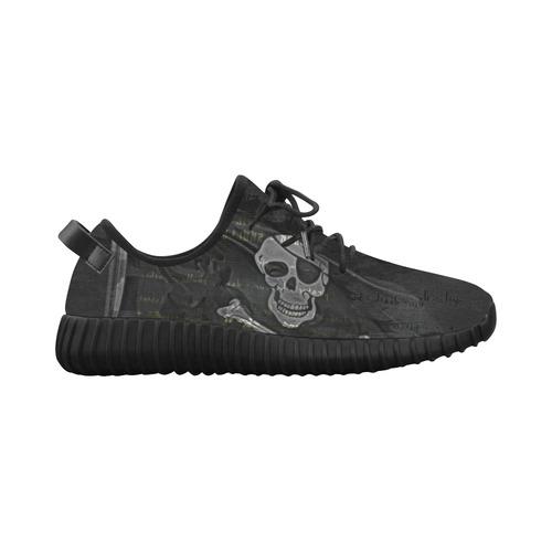 Vintage Skull Pirates Flag Grus Women's Breathable Woven Running Shoes (Model 022)