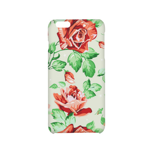 Vintage Floral Wallpaper Red Rose Flowers Hard Case For Iphone 6 6s Plus Id D882127