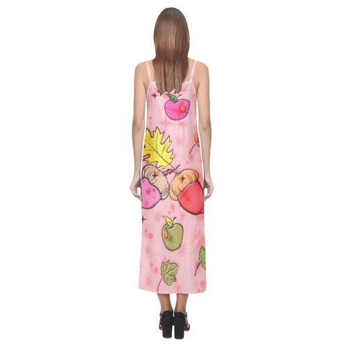 Popart Fall by Popart Lover V-Neck Open Fork Long Dress(Model D18)