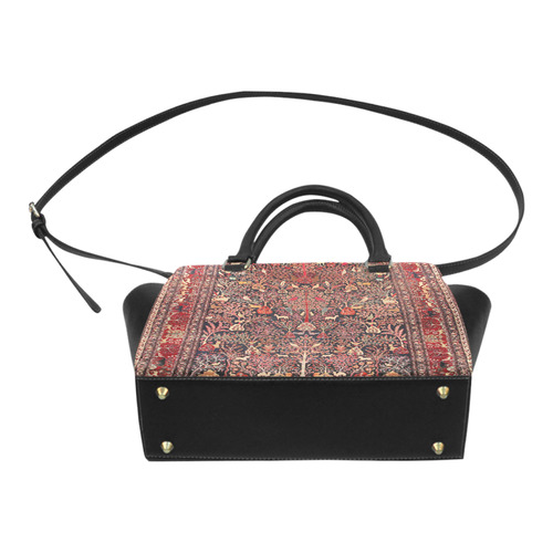 Vintage Persian Rug Nature Animals Classic Shoulder Handbag (Model 1653)
