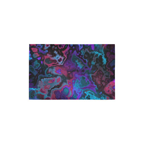 "black blue pink purple abstract 2 Area Rug 2'7""x 1'8''"