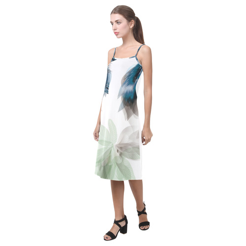 Designers Feathers collection : New in our Designers Shop / Boho stylish Art Alcestis Slip Dress (Model D05)