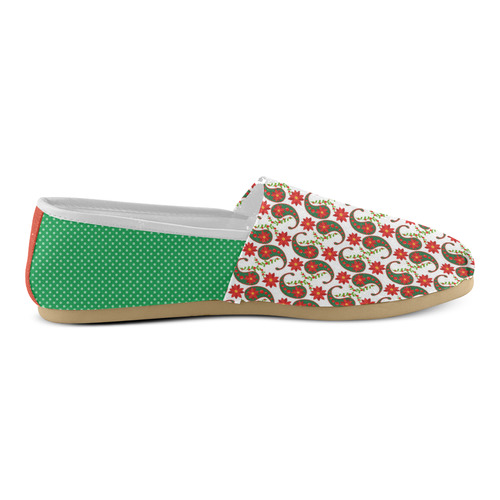 Christmas Paisley 2 Unisex Casual Shoes (Model 004)
