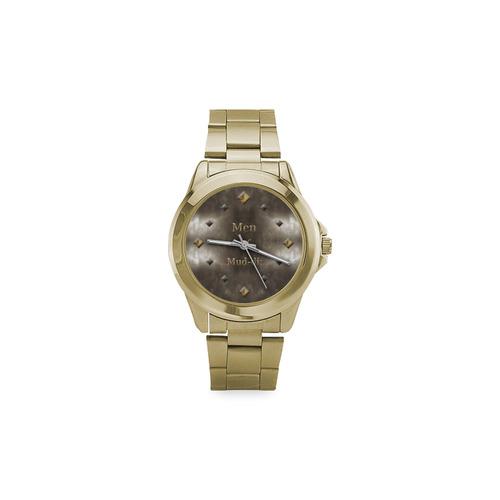 Steel Faced Goldish Watch Custom Gilt Watch(Model 101)