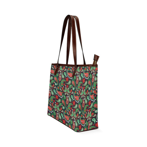 Christmas Paisley Shoulder Tote Bag (Model 1646)