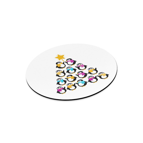 Artistic designers Penguin edition : black, white and yellow Round Mousepad