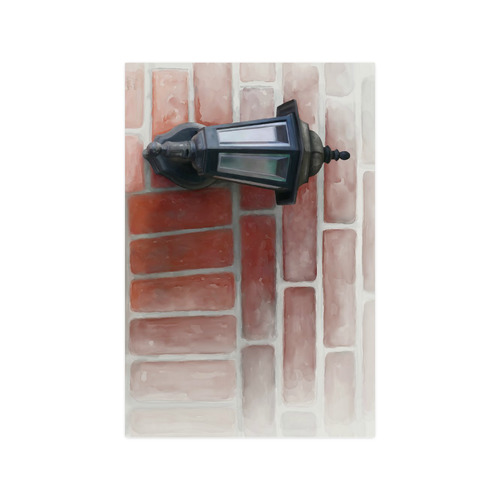 """Lamp on red brick, watercolor Poster 20""""x30"""""""